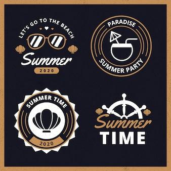 Collezione di badge estate vintage