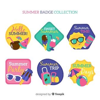 Collezione di badge estivi