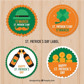 Collezione di badge / etichette per il giorno di san patrizio