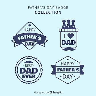 Collezione di badge felice festa del papà