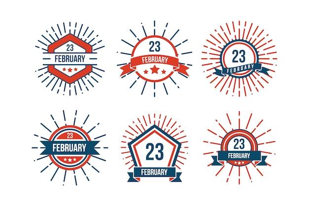 Collezione di badge giorno patria nazionale