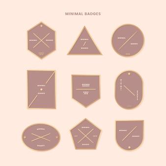 Collezione di badge in oro minimale