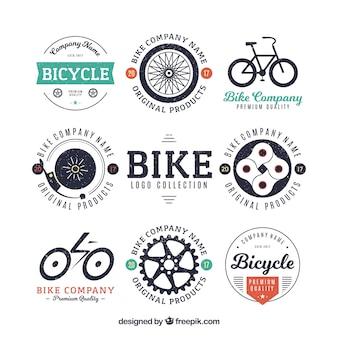 Collezione di badge per bicicletta