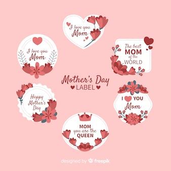 Collezione di badge per la festa della mamma