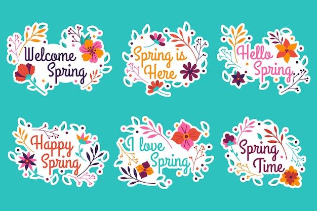 Collezione di badge per la primavera
