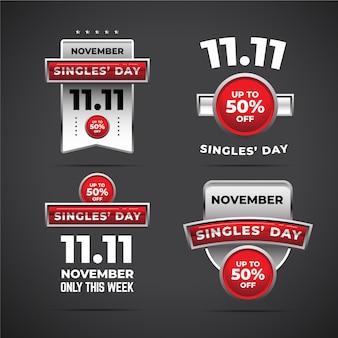 Collezione di badge per single day