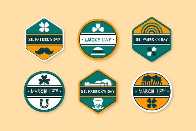 Collezione di badge per st. giorno di patrick