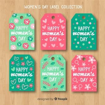 Collezione di badge piatto giorno delle donne
