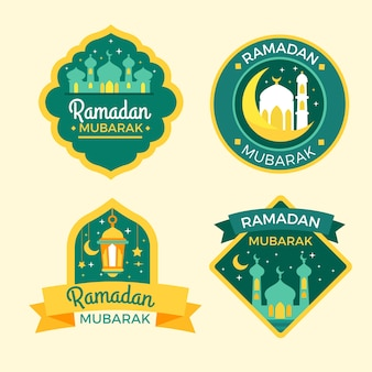 Collezione di badge piatto ramadan