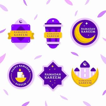 Collezione di badge ramadan