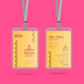 Collezione di badge ristorante messicano