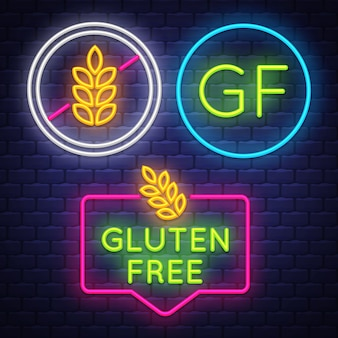 Collezione di badge senza glutine