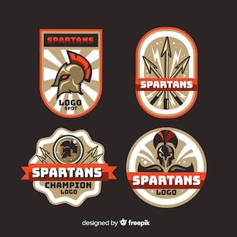 Collezione di badge spartani
