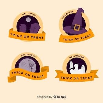 Collezione di badge vintage di halloween
