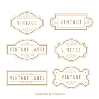 Collezione di badge vintage