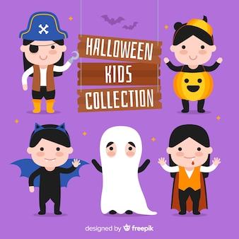 Collezione di bambini halloween