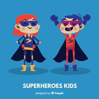 Collezione di bambini supereroi