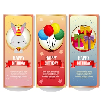 Collezione di banner colorati compleanno
