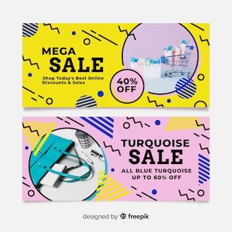 Collezione di banner di moda in vendita