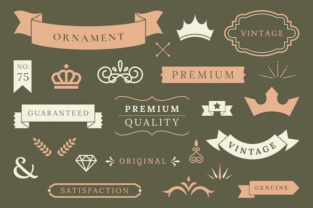 Collezione di banner di qualità premium