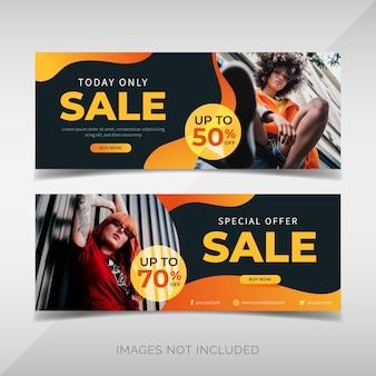 Collezione di banner di vendita di moda