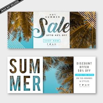 Collezione di banner di vendita estiva