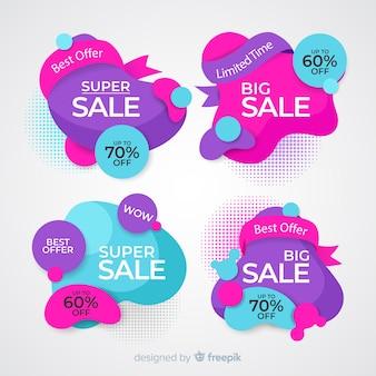Collezione di banner di vendita in stile astratto