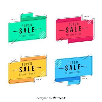 Collezione di banner di vendita memphis