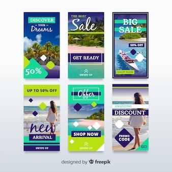Collezione di banner di vendita per i social media