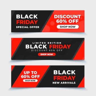 Collezione di banner di vendita venerdì nero
