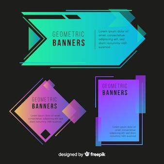 Collezione di banner geometrici astratti