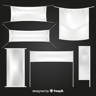 Collezione di banner in tessuto