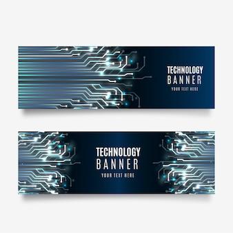 Collezione di banner tecnologici