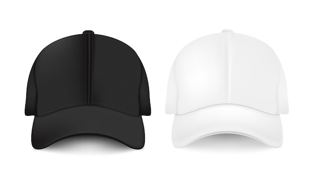 Collezione di berretti da baseball vuota