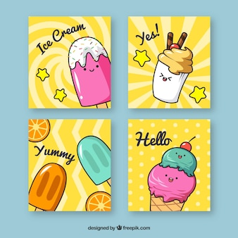 Collezione di biglietti da visita gelati