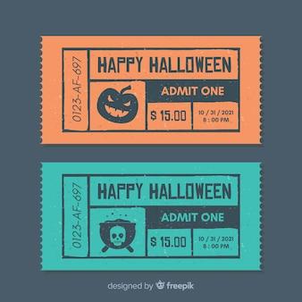 Collezione di biglietti per feste di halloween