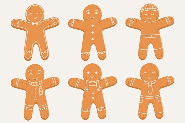 Collezione di biscotti uomo di panpepato design piatto