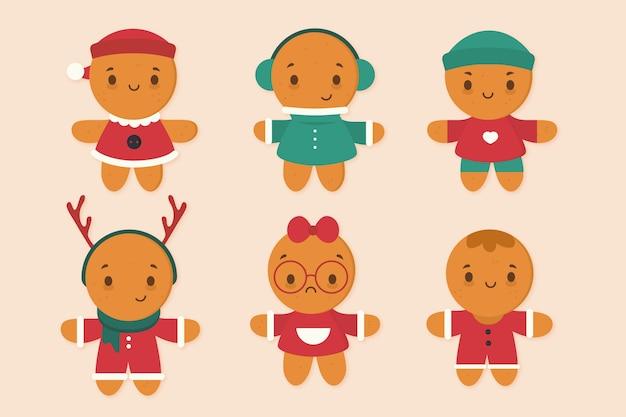 Collezione di biscotti uomo gingerbread