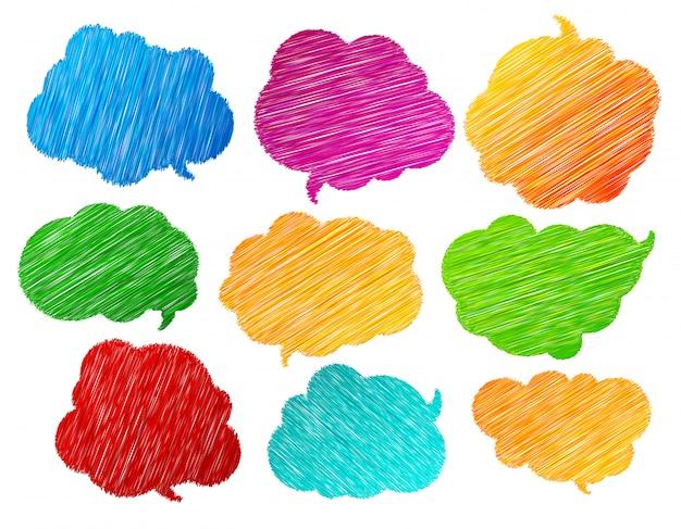 Collezione di bolle di discorso e pensiero