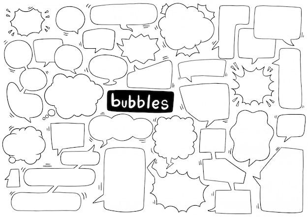 Collezione di bolle di discorso