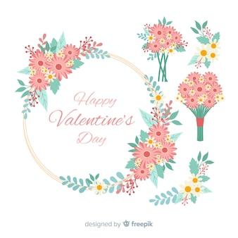 Collezione di bouquet di san valentino