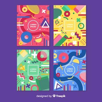 Collezione di brochure colorate di memphis