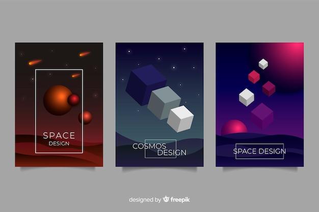 Collezione di brochure di forme antigravitazionali
