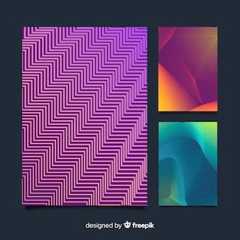 Collezione di brochure di linee geometriche colorate