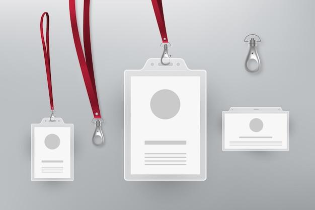 Collezione di cancelleria carta d'identità design