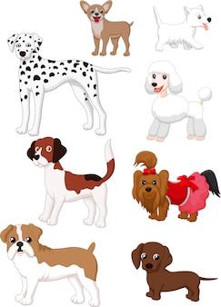 Collezione di cani del fumetto