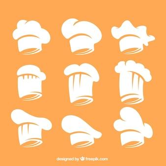 Collezione di cappelli da cuoco