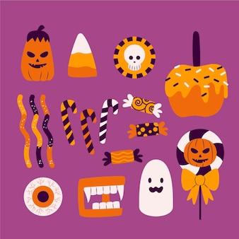 Collezione di caramelle di halloween