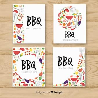 Collezione di carte barbecue