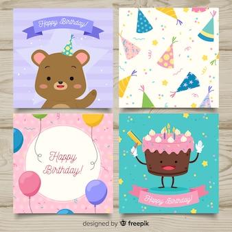Collezione di carte di compleanno